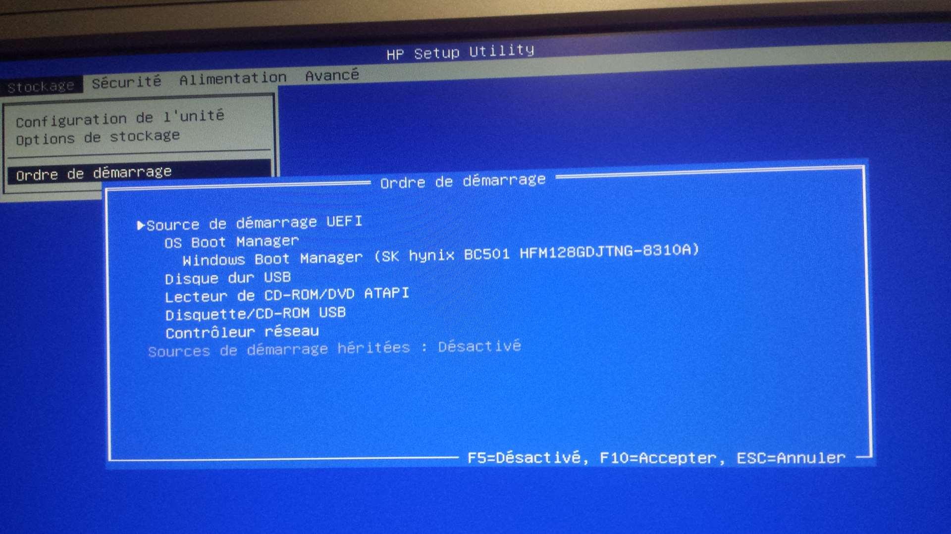 lancer windows 10 sur clé usb