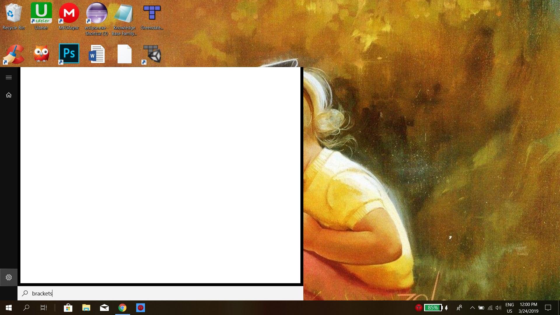 Windows search popup a whitebox - Microsoft Community