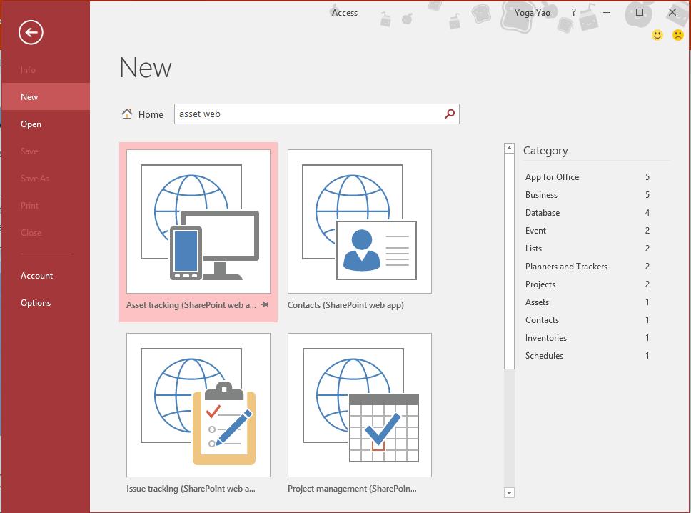 Assets Web Database template - Microsoft Community