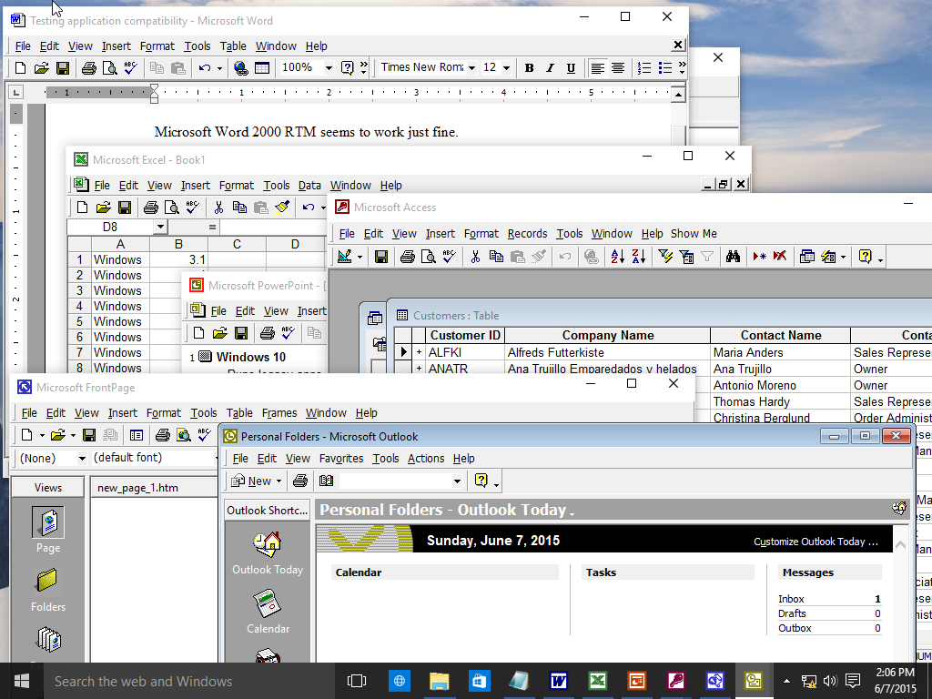 A look at running older versions of Microsoft Office on Windows 10