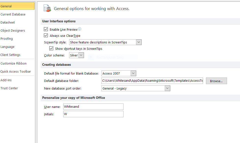 How To Setup My Templates In Access 2010 Microsoft Community