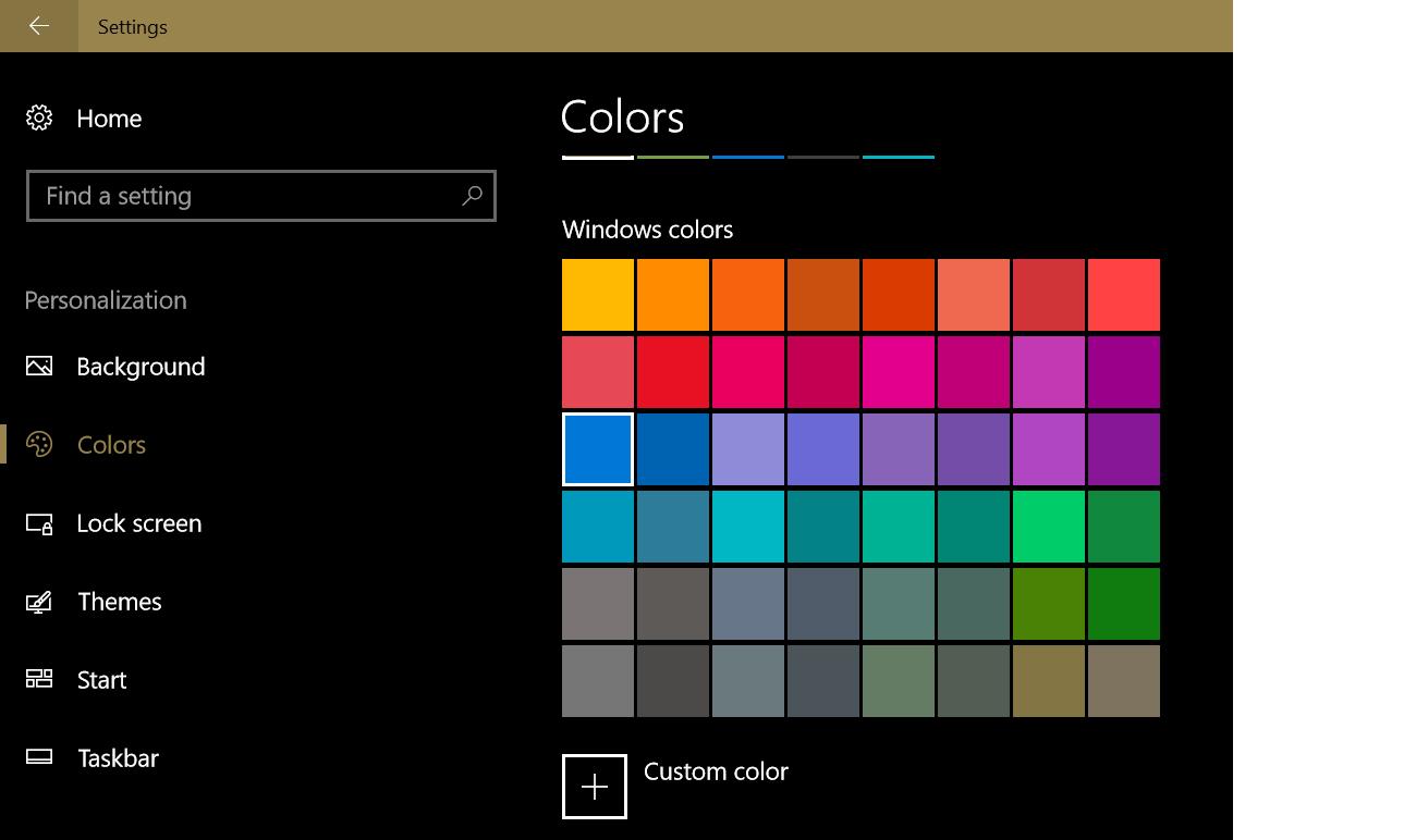 Windows 10, default color settings - Microsoft Community
