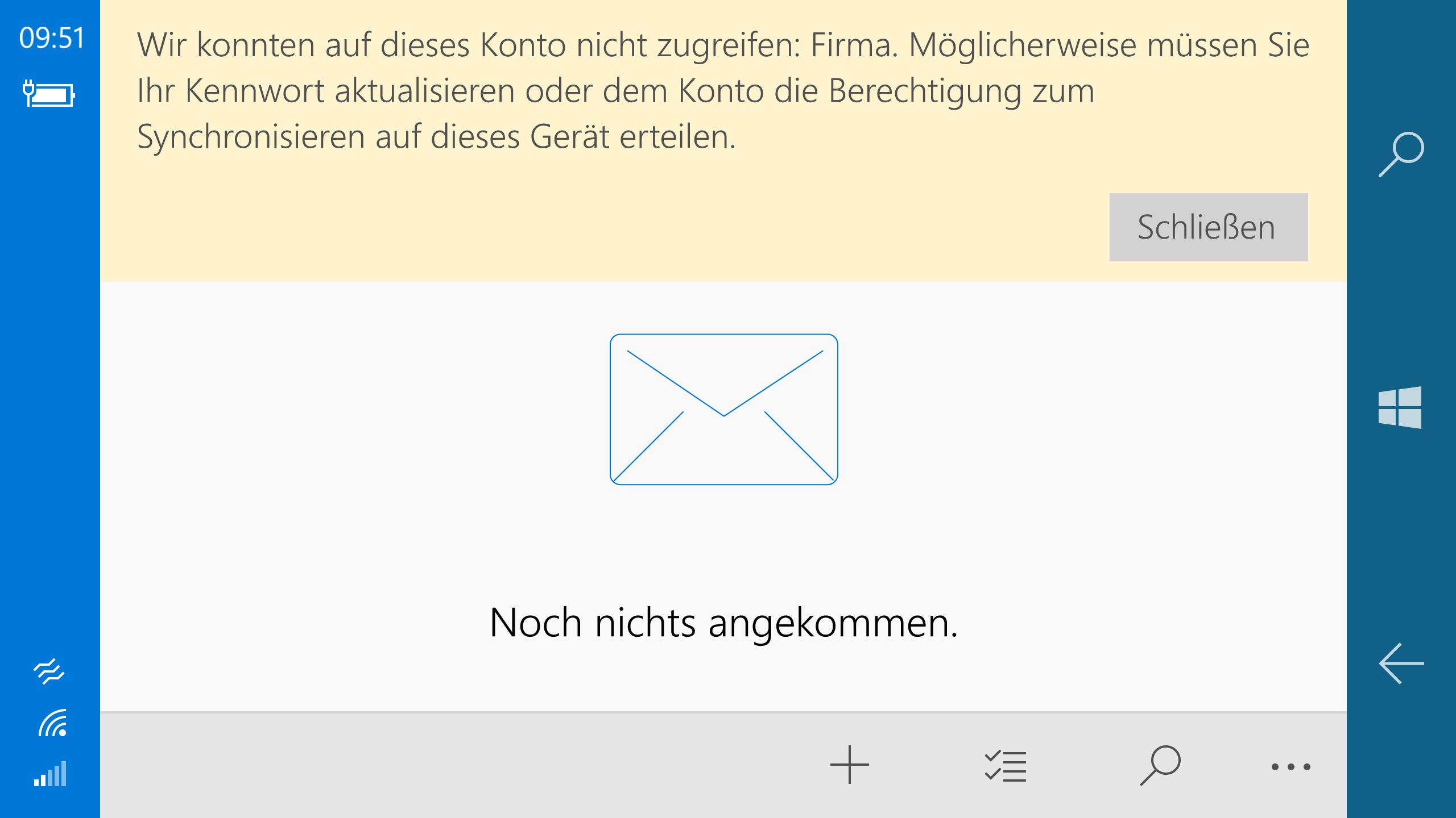 Kann auf meinem Lumia 950 seit einigen Wochen keine smtp Mails mehr herausschicken