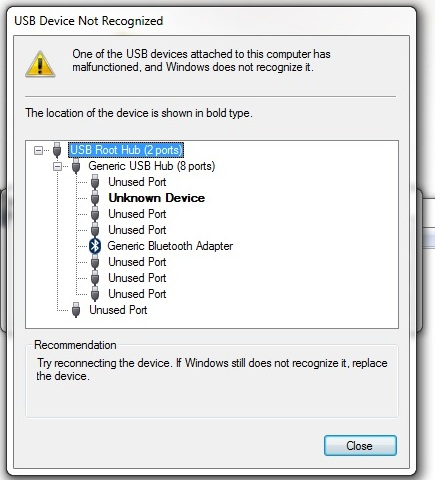 Usb Device Not Recognized Unable To Install Printer Microsoft