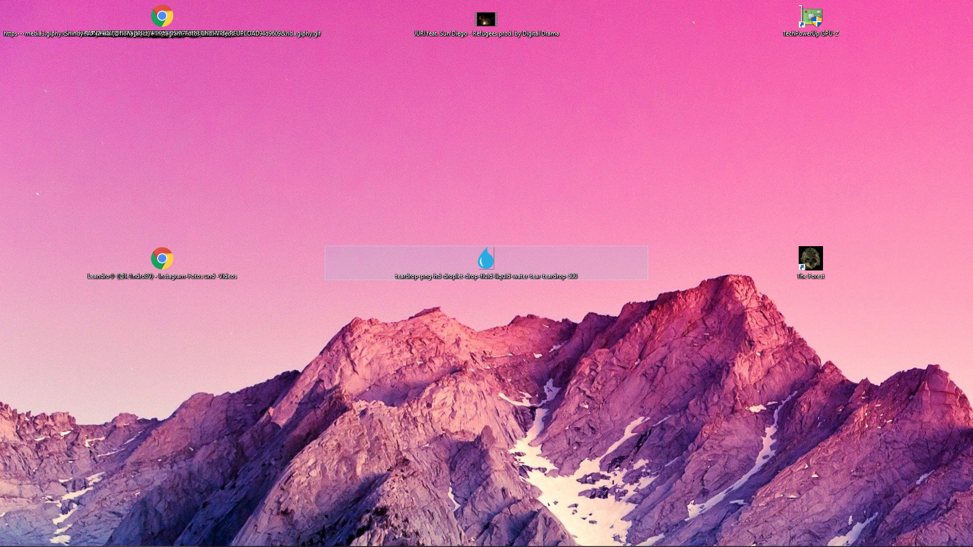 Desktopsymbolte sehr breit