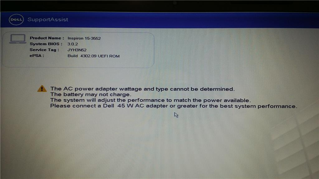 Two day old Dell Laptop error ~ Driver_Power_State_Failure