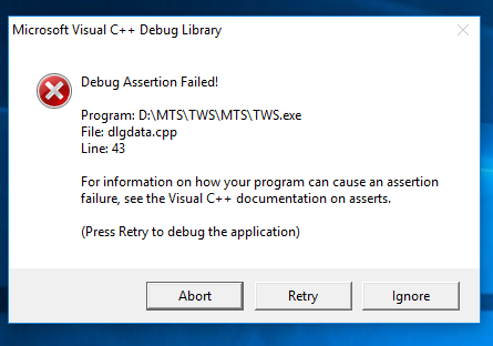 microsoft visual c++ runtime library