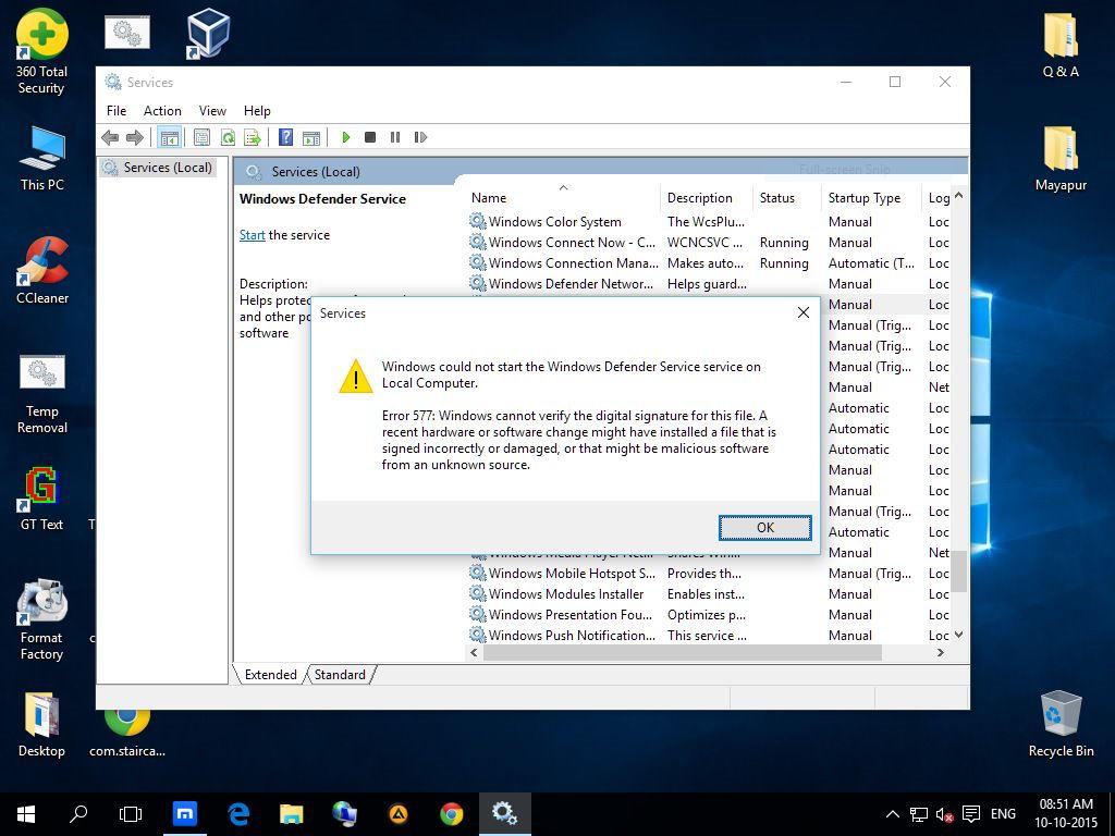 windows 10 defender vs 360 total security