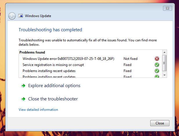 Windows 7 Update Problems 2019