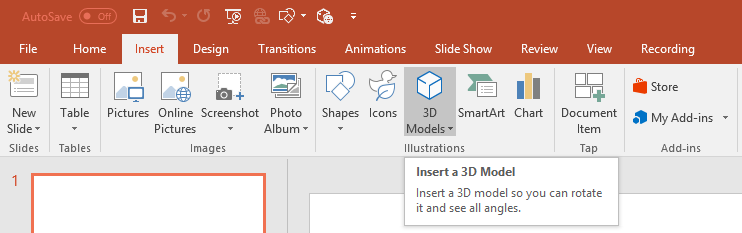 New! 3D in Office now available to Office Insiders on