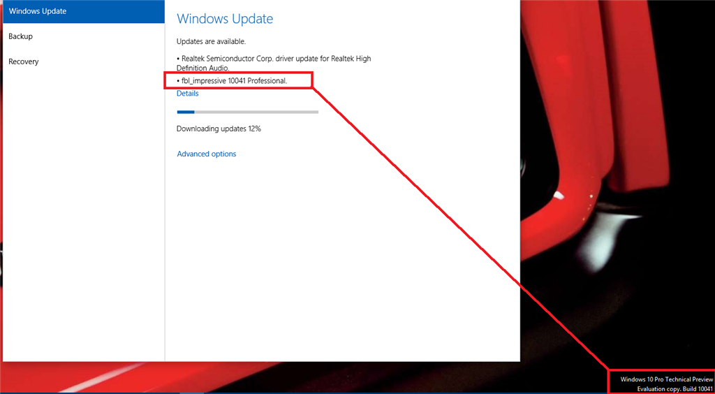 Problem with downloading and installing build 10041 microsoft image ccuart Gallery