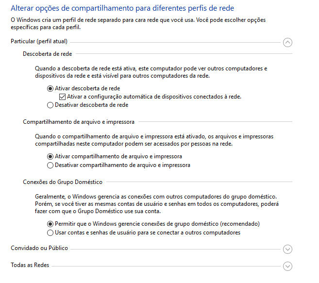 Compartilhar arquivos em rede doméstica - Microsoft Community