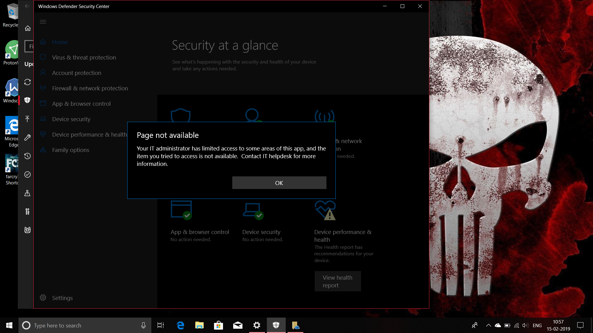 Defender Security Center is not working!!!!!! - Microsoft