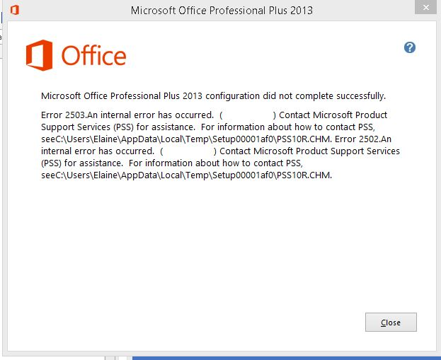ms office application recovery