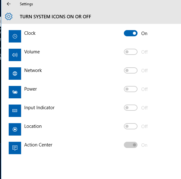 System Icons Greyed Out for Windows 10 - Microsoft Community