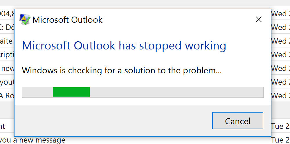outlook 365 not opening windows 10