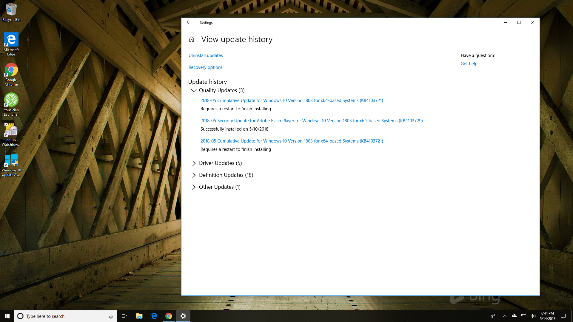 Windows 10 update constantly says requires restart