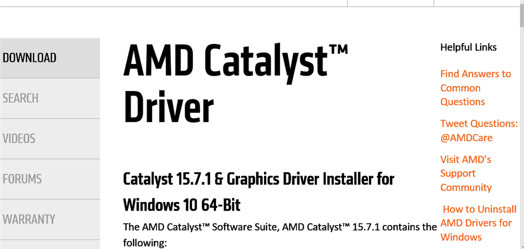 amd catalyst drivers windows 8.1 64 bit