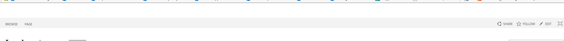 Office 365 top navigation bar disappears in SharePoint