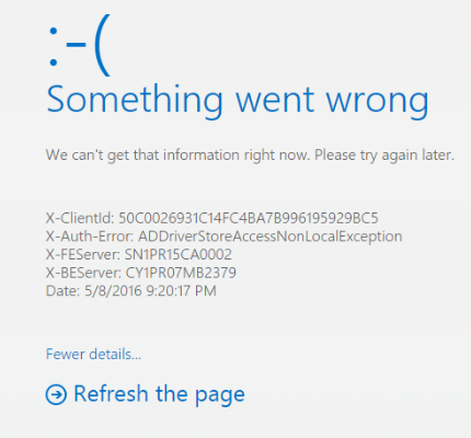 something went wrong sign in error with x auth error microsoft