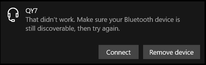 Unable to Stream Music/Audio from Win 10 PC to Bluetooth