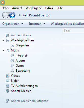 Windows Media Player 12 Unter Windows 81 Erkennt Das Dvd Laufwerk