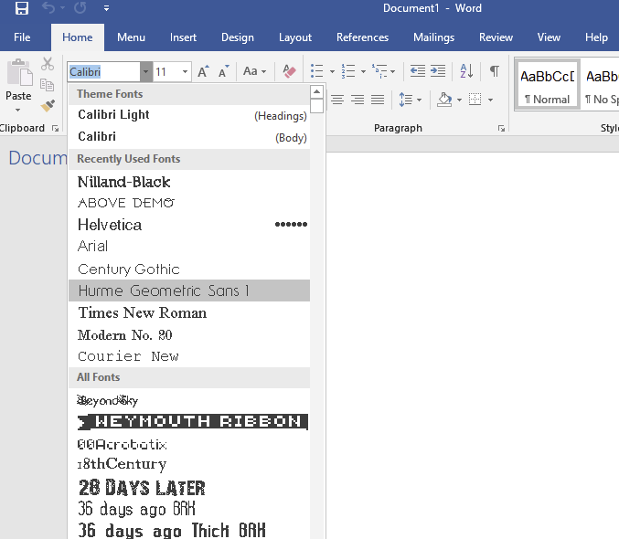 Weird Microsoft Word Fonts 10