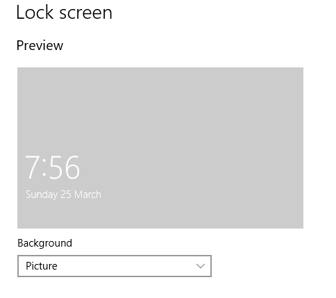 Can T Change Lock Screen In Windows 10 Microsoft Community