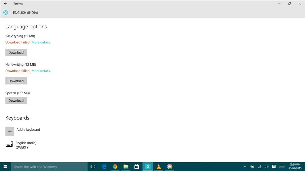 unable to download language in windows 10  - Microsoft Community