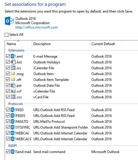 Outlook 2016 MAPI problem - Microsoft Community