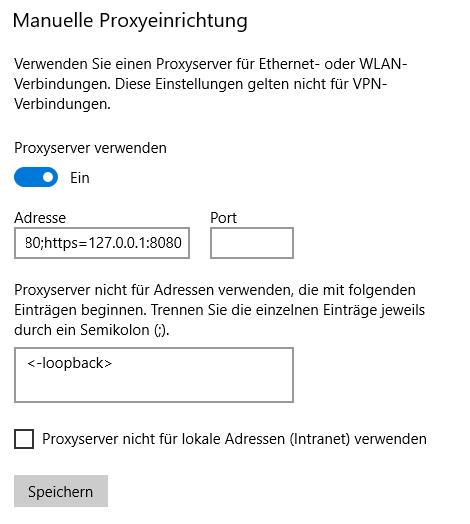 Proxy lässt sich nicht ausschalten, kein Internet
