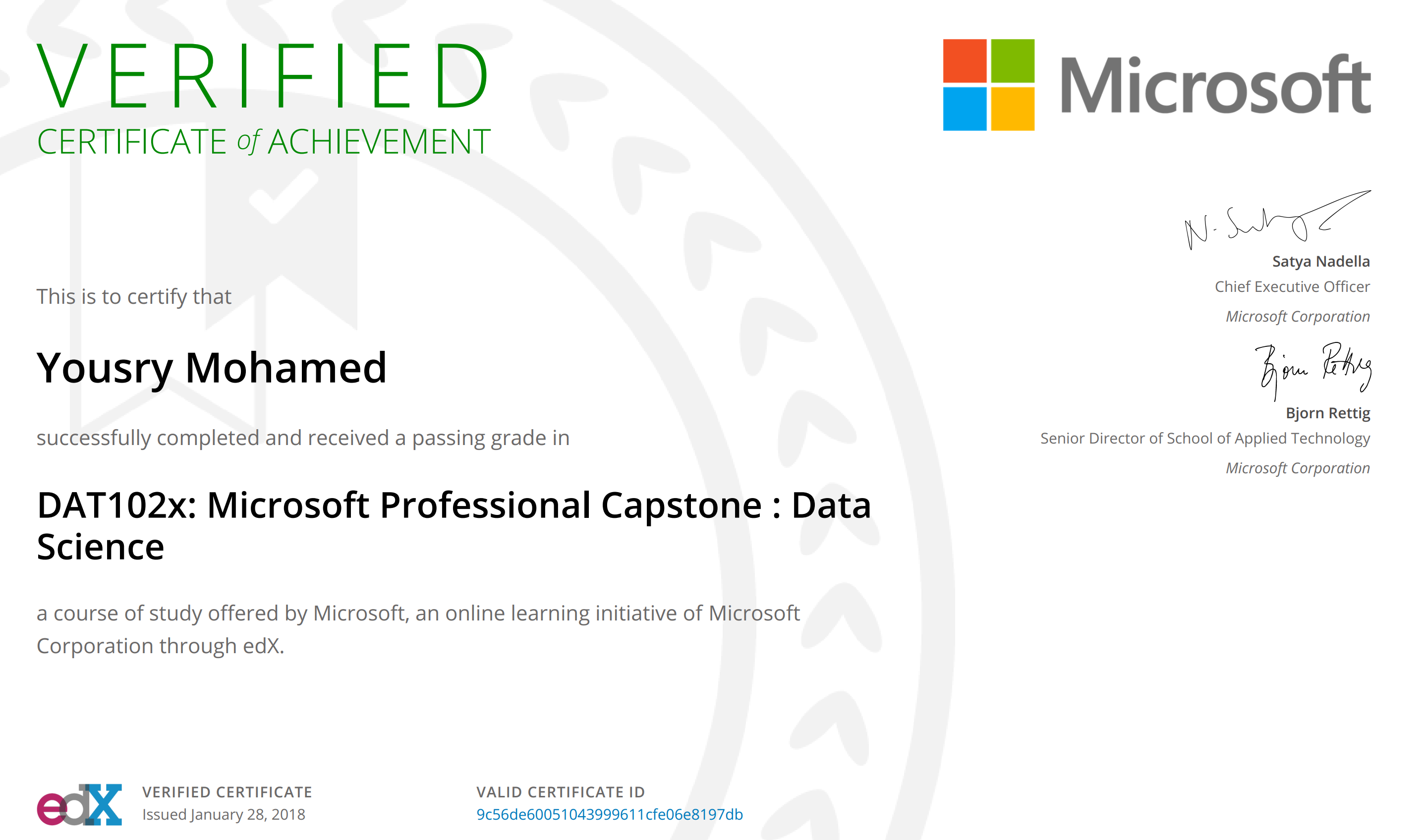 Final Program Certificate Not Found Microsoft Professional Program