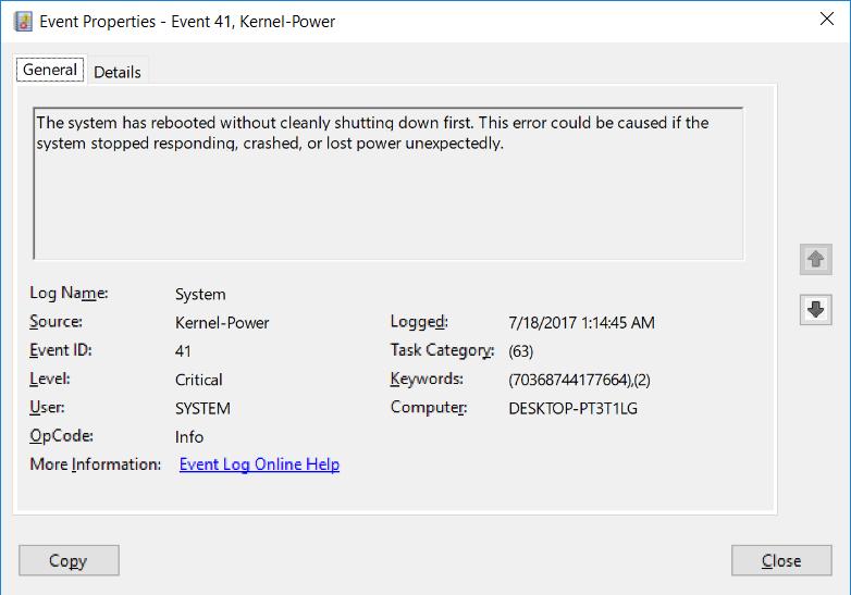 Stop Error Code Crash on Windows 10, always happens when I'm