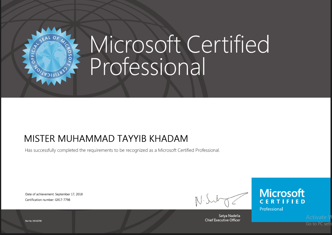 Name Correction In Mcp Certificate Training Certification And