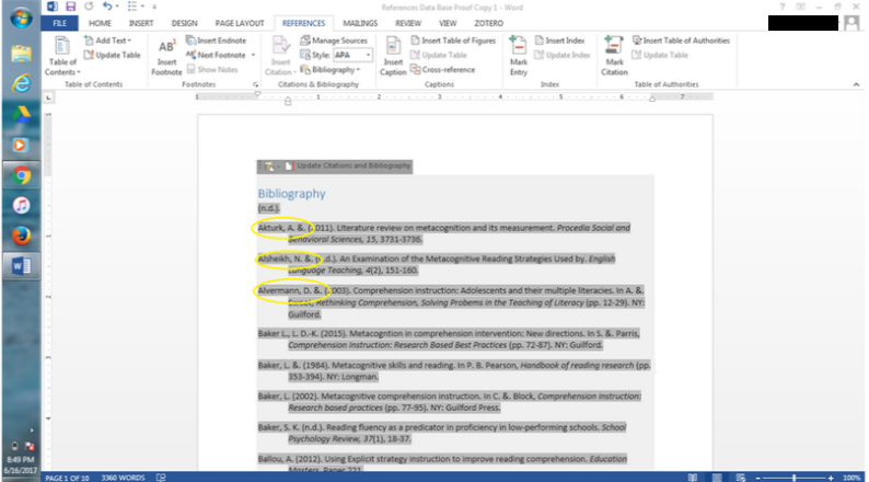 Bibliography Formatting Authors in Word, APA format, Citations ...