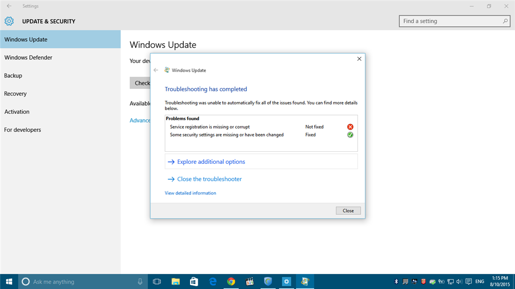 how to fix missing shell32.dll windows 10 using