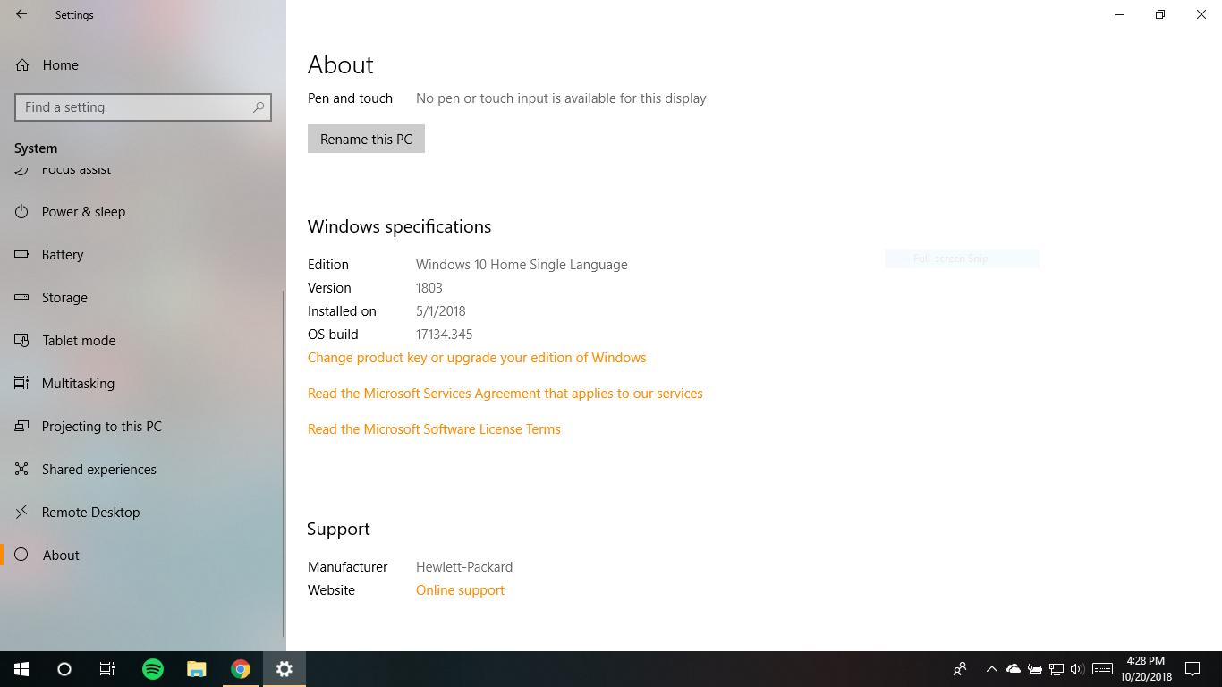 1809 windows 10 update