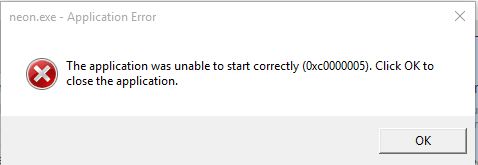 Windows 10- the program was unable to start correctly - Microsoft