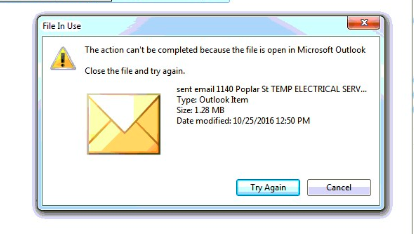 Outlook locking files?? - Microsoft Community