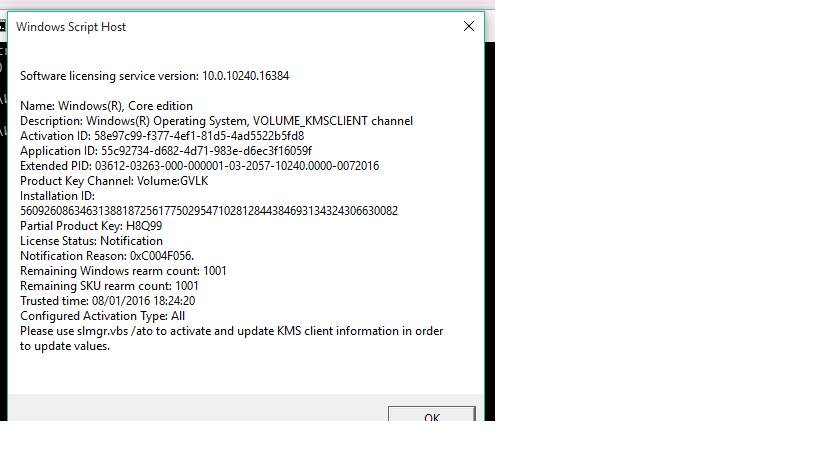 pre installed windows 8 product key