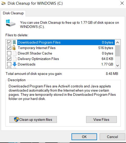 windows disk clean up - Microsoft Community