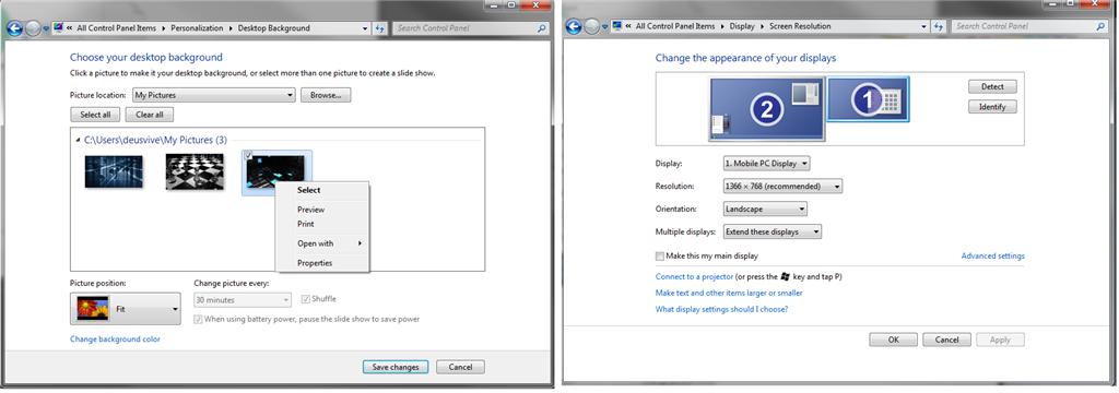 Dual Monitor Wallpaper Setup Windows 7