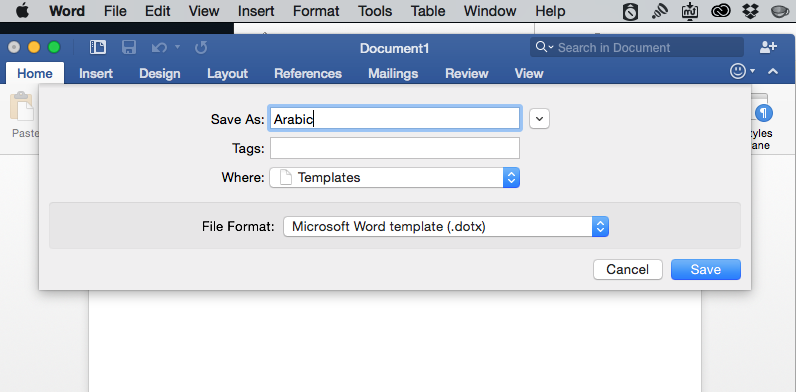 how to type in arabic in word (mac microsoft office 2011)