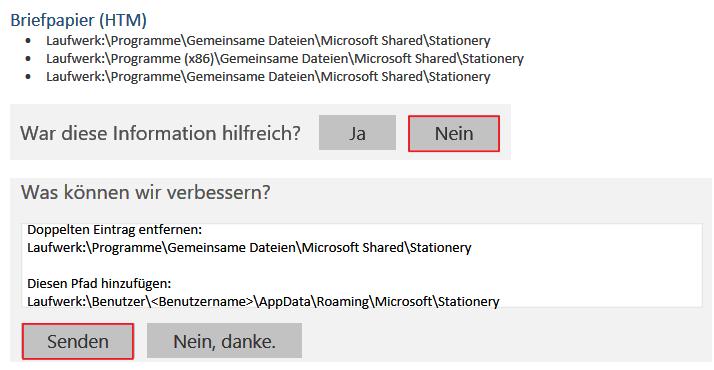 Outlook Briefpapier Microsoft Community
