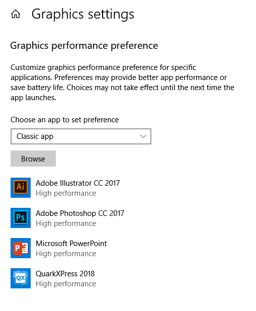 Windows 10 - Software is not using dedicated GPU - Microsoft Community