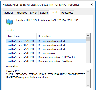My Wireless Lan adapter disappeared after updating driver in