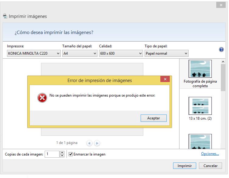 ERROR DE IMPRESIÓN DE IMÁGENES - Microsoft Community