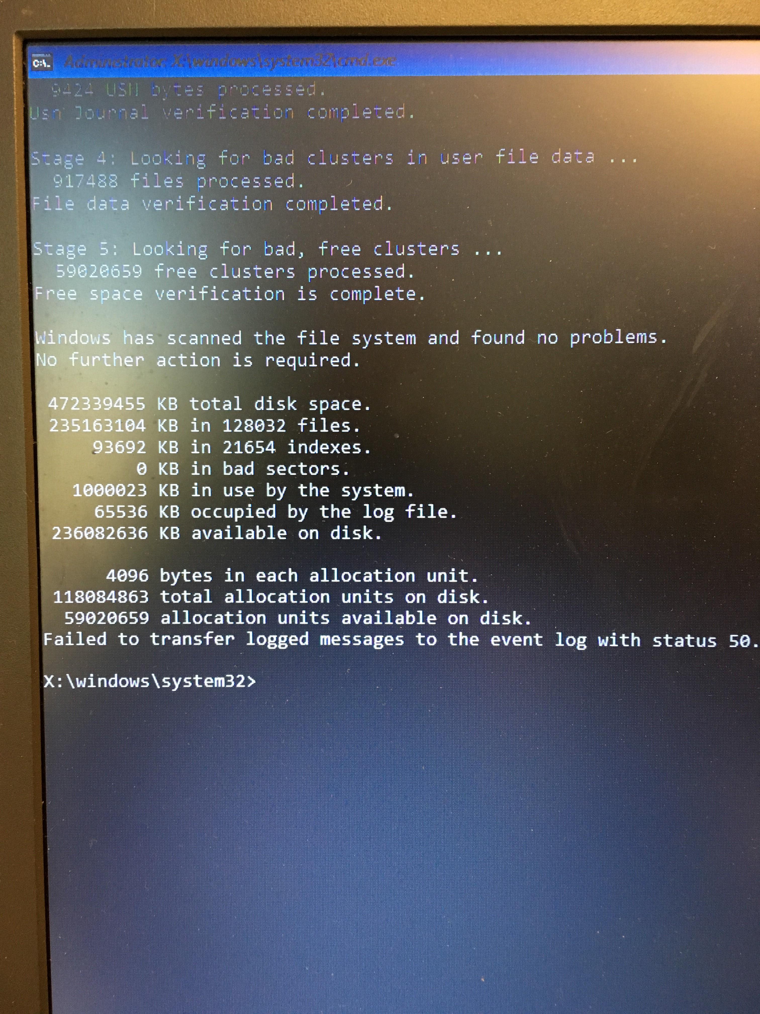 Automatic Repair Error SrtTrail txt - Microsoft Community