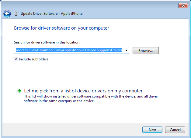 Device apple drivers mobile support
