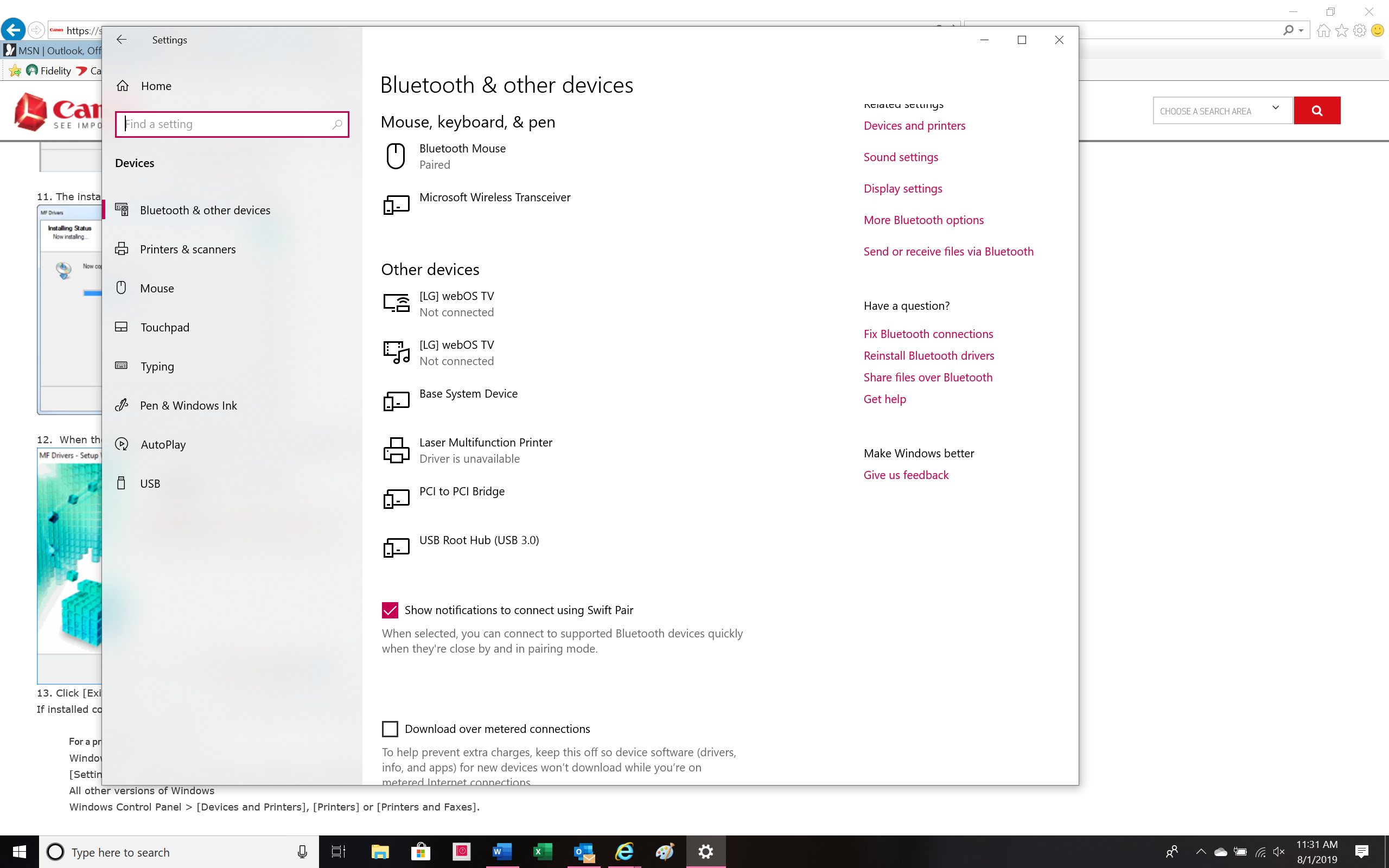 Downloaded Printer Driver Is Unavailable Microsoft Community